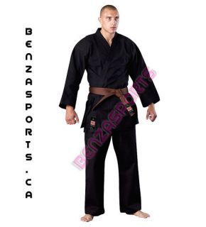 KARATE UNIFORM / KARATE GI KR303 BLK MED WEIGHT 12 OZ