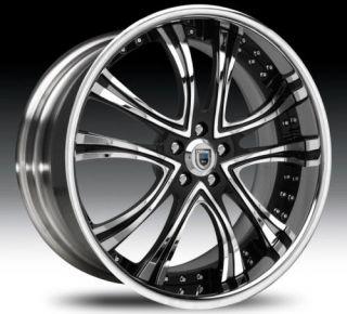 24 Asanti AF159 Black Chrome Wheels Rims 2 Piece Tone
