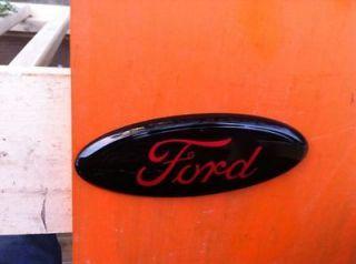 FORD Explorer Fusion 7 GRILLE/Tailgate EmblemCUSTOMBLACK RED