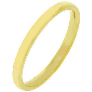 Gold Plated 2mm Wedding Ring Band Size 5/6/7/8/9/10/11/12 Free