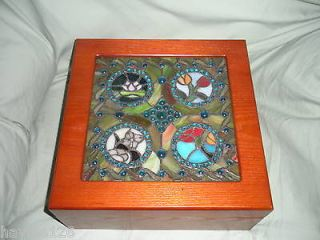 stained glass jewelry boxes in Jewelry & Watches