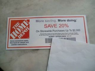 HOME DEPOT COUPON 20% OFF UP TO $2000 USE @ LOWES   12/31/2012