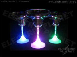 Light Up 7 Colour LED Margarita Cocktail Glasses