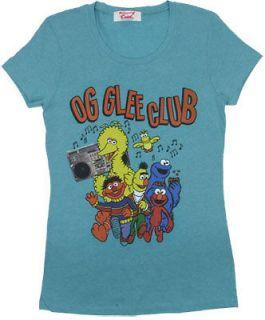OG Glee   Sesame Street Sheer Junior Womens T shirt