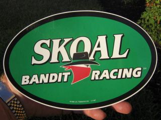RARE SKOAL BANDIT RACING OVAL DECAL 1998