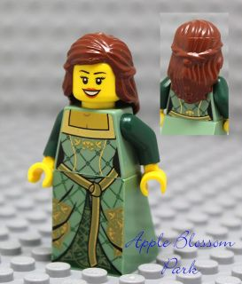 FEMALE PRINCESS MINIFIG   Girl w/Brown Hair Castle Dress 10223