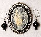 Vintage Cameo Brooch Pin Gold Tone Jewelry Cameos Pins