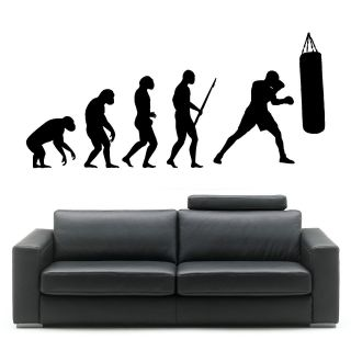 Darwin EVOLUTION OF MAN BOXING BOXER wall art vinyl sticker decal FAST