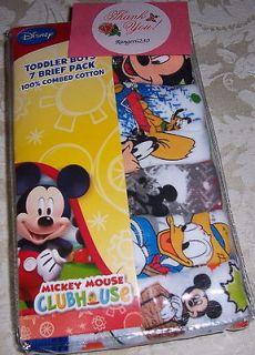 New Disney Mickey Mouse Club House Goofy Donald Duck Pluto Briefs