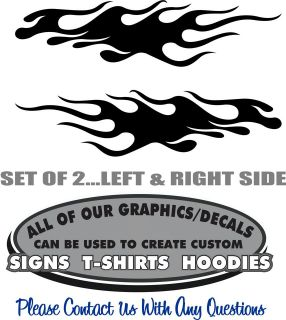Flames Sticker Decal Graphic 4 Laptop RC Car Scrapbook Window Toolbox