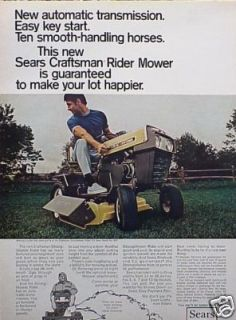1969  Craftsman Lawn Tractor Mower Original Ad C MY STORE 5