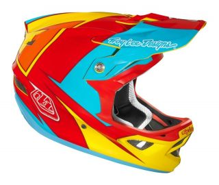 Troy Lee Designs TLD D3 Bicycle Downhill BMX Helmet Stinger Yellow Red
