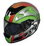 DOT   GREEN BLADE   Racing Motorcycle Helmet   Full Face Anti scratch
