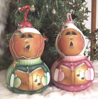 Christmas Gourd Carolers Decorative Painting Pattern