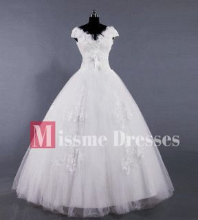 Size White/Ivory Ball Gown Dress Long Wedding Bridal Gowns Dresses