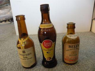 Canadian Whisky 2. Bell's Old Scotch Whisky 3. Licor de Café Oso