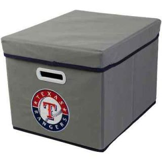 Texas Rangers Stackable Fabric Storage Cube   Gray