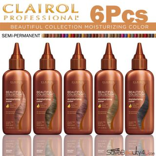 6pc Clairol Beautiful Collection Semi Permanent Color   3 oz