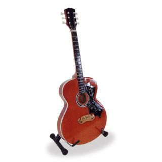 Elvis Presley Gibson J200 Mini Guitar & Display Stand