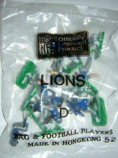 Tudor Electric Football Detroit Lions D HK 1980s