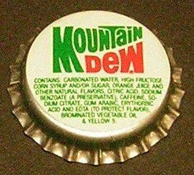 Vintage Mountain DewplasticunusedSODA BOTTLE CAP #1