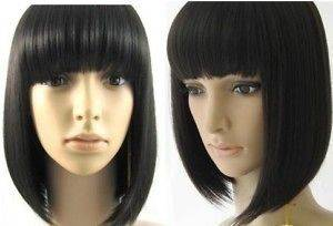 Stylish Short Human Made Straight Hair wig/wigs