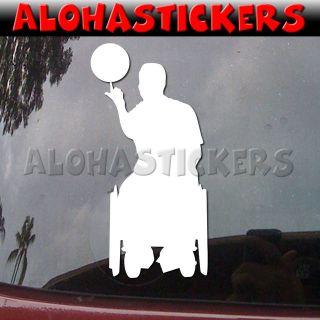 WHEELCHAIR BASKETBALL Disabled Car Truck Laptop Vinyl Decal Window