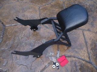 BLACK HARLEY SPORTSTER DETACHABLE BACKREST SISSY BAR XL 1200 N