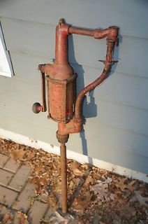 Vintage Old Gas Station oil Barrel Hand Crank Pump