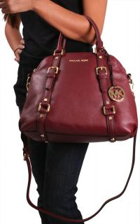 Michael Kors Bedford Womens Bowling Satchel Handbag Purse