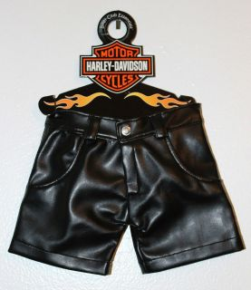 Harley Davidson Black Leather Dog Pants   Shorts