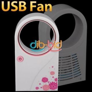 Handheld Usb Mini Air Conditioner Desktop Fan No Leaf Fan Cooler