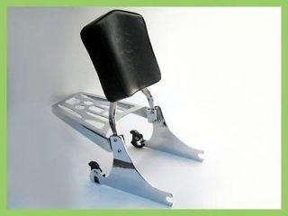 Harley Davidson Softail Detachable Sissy Bar, Backrest Pad, & Luggage