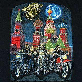 HARLEY DAVIDSON IN MOSCOW 100% COTTON RUSSIAN SHIRT