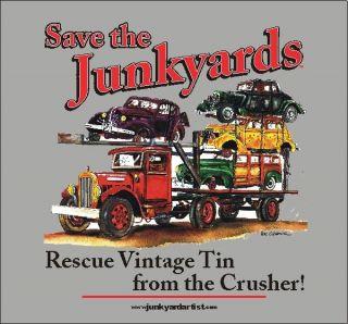 JUNKYARD TRUCK T SHIRT FLATHEAD TOW HOT STREET ROD FORD