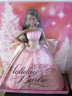 Gorgeous AFRICAN AMERICAN 2009 Holiday Barbie doll Never removed from