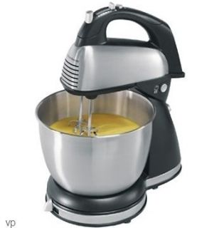Hamilton Beach 6 Speed Electric Stand & Hand Mixer w/ 4 Qt. Stainless