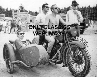 JAMES GARNER COBURN RIDE HARLEY DAVIDSON MOTORCYCLE SIDECAR PHOTO