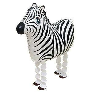 ZEBRA JUNGLE Zoo Safari Black White Stripes 40 Figure Party Mylar