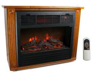 LS FP1500 1500 Watt Infrared Quartz Electric Fireplace Heater