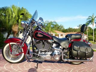 Harley Davidson  Softail 2002 HERITAGE SPRINGER ALL CHROMED OUT