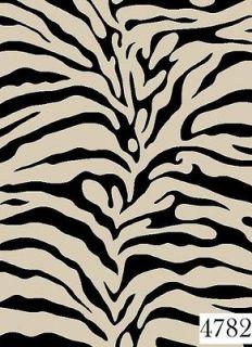Black Beiges Animal Print Zebra Design 5 x 8 Area Rug