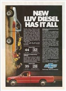 1981 Chevy LUV Diesel Pickup Truck photo print ad
