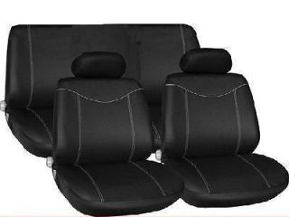 Black Full Car Seat Cover Protector set for MERCEDES SL500 A
