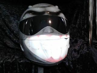 LAST CHANCE SMILEY AIRBRUSHED MOTORCYCLE HELMET ORIGINALLY $500.00