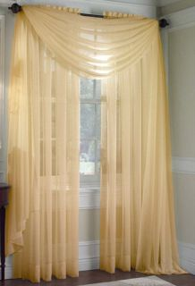 gold sheer curtains in Curtains, Drapes & Valances