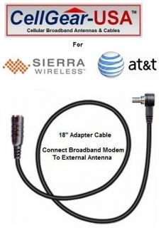 AT&T Shockwave USB308 Modem External Antenna Adapter Cable FME M