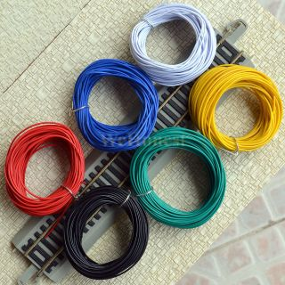 Assorted Colors Stranded Equipment Wires 7/0.15 for layouts 60 Meters