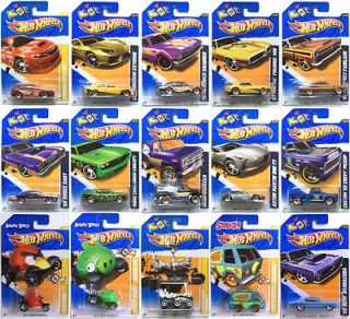 2012 Hot Wheels  Red Line Set/Angry Birds/Mystery Machine/Mars