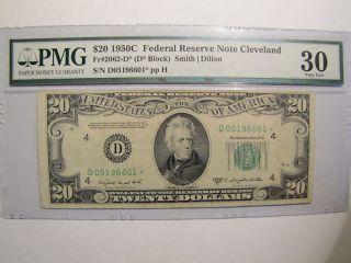 1950C Twenty Dollar Cleveland Fed Star Note PMG VF 30